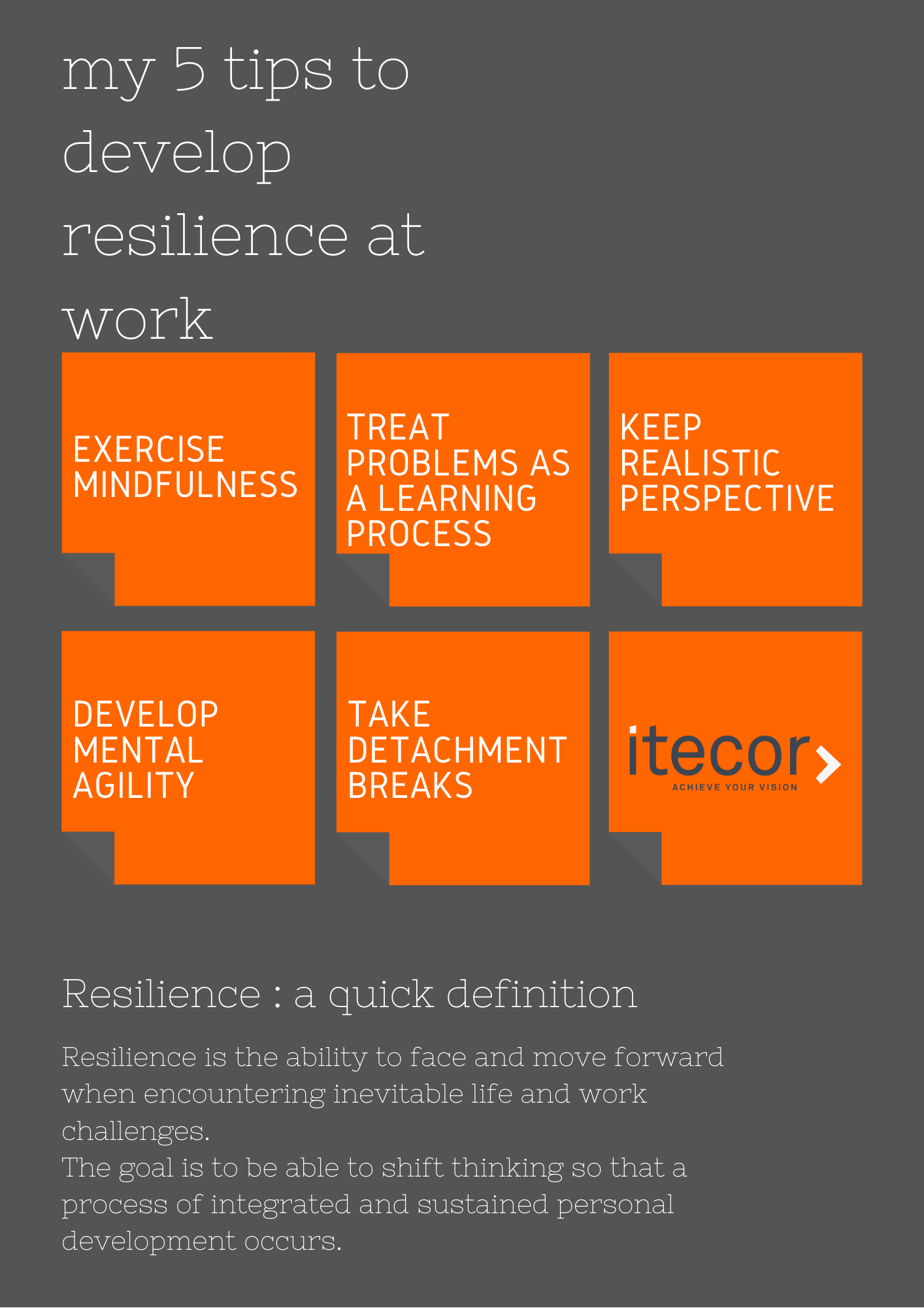 My 5 tips to develop resilience at work